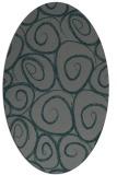 rug #667625 | oval blue-green circles rug