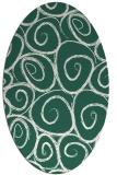 rug #667629 | oval blue-green circles rug