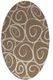 rug #667649   oval beige circles rug