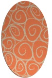 rug #667693 | oval orange natural rug