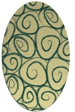 rug #667701 | oval blue-green natural rug