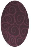 rug #667721 | oval purple circles rug