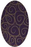 rug #667729 | oval purple popular rug