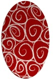 rug #667737   oval red circles rug