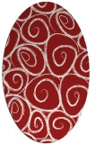 rug #667745   oval red circles rug