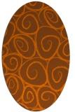rug #667755 | oval circles rug