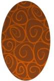 rug #667761 | oval red-orange circles rug