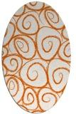 rug #667765 | oval red-orange circles rug