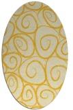 rug #667785   oval yellow circles rug