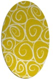 rug #667797 | oval yellow circles rug