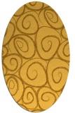 rug #667801 | oval yellow rug