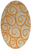rug #667813 | oval orange circles rug