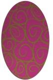 rug #667826 | oval circles rug