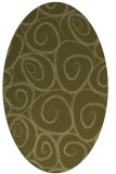 rug #667829 | oval light-green popular rug