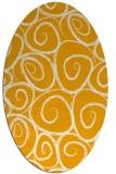 rug #667833   oval light-orange circles rug