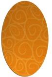 rug #667841   oval light-orange circles rug