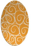 rug #667845 | oval light-orange natural rug