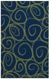 rug #667885 |  green circles rug