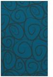 rug #667929 |  blue circles rug