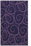 rug #667945 |  blue-violet circles rug