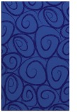 rug #667953 |  blue-violet circles rug