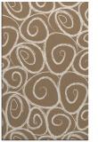 rug #668001 |  beige circles rug