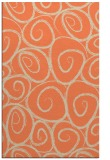 rug #668045 |  orange circles rug