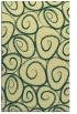 rug #668053 |  yellow circles rug