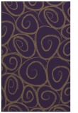 rug #668081 |  mid-brown circles rug