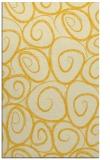 rug #668137 |  yellow circles rug
