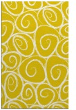 rug #668149 |  yellow circles rug