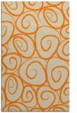 rug #668165 |  orange circles rug