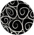 rug #668205 | round black rug