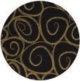 rug #668221 | round black natural rug