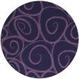 rug #668297   round purple circles rug