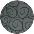 rug #668329 | round blue-green natural rug
