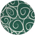 rug #668333 | round blue-green natural rug