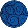 rug #668369 | round blue circles rug