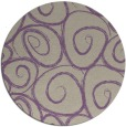rug #668381 | round purple natural rug