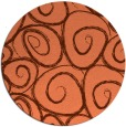 rug #668401 | round red-orange circles rug