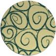 rug #668405 | round yellow popular rug