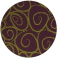 rug #668429 | round green circles rug