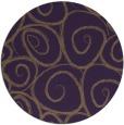 rug #668433   round purple rug