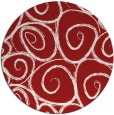 rug #668449 | round red natural rug