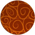 rug #668457 | round red-orange circles rug