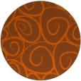 rug #668465 | round red-orange circles rug
