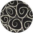 rug #668509 | round black natural rug
