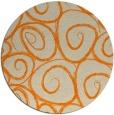rug #668517 | round orange circles rug