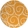 rug #668549 | round light-orange natural rug