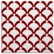 rug #669093 | square orange retro rug